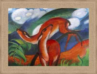 Red Deer Ii By Franz Marc As Fine Art Print 681900