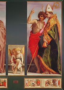 Polyptych from Vallombrosa Abbey, detail of the right hand side showing Saint John the Baptist and another Saint, 1528  (detail of 50405)