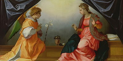 The Annunciation, 1528 (tempera on panel)