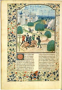 MS Fr 87 Miniature from Volume II of the Chronicle of England written by Jean de Wavrin, Lord of Forestel (d.c.1475)