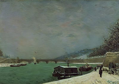 The Seine at the Pont dIena, Winter, 1875