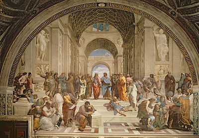 School of Athens, from the Signature Room, 1510-11