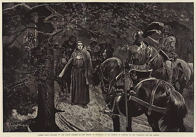 Luther made Prisoner by the Saxon Knights in the Forest of Thuringia, to be carried in Disguise to the Wartburg for his Safety