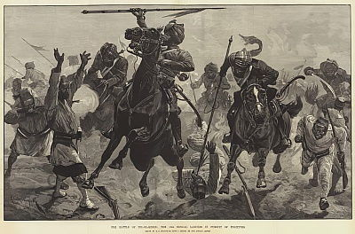 The Battle of Tel-el-Kebir, the 13th Bengal Lancers in Pursuit of Fugitives