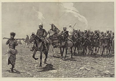 The Nile Expedition, a Column of Troops starting across the Desert