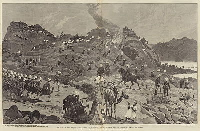 The War in the Soudan, the Battle of Kerbekan, 10 February, General Earles Troops attacking the Enemy