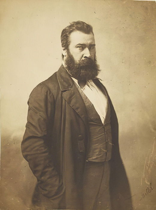 Jean-François Millet, 1856-58 (salted paper prints from glass negatives) by Nadar
