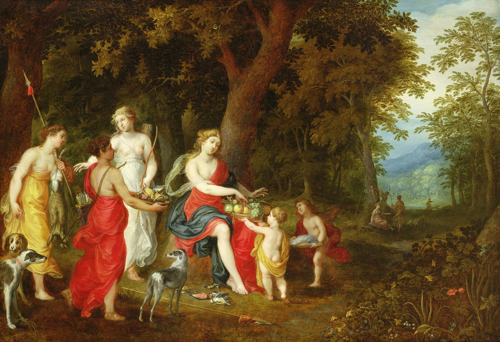 Diana and Her Maidens, after the hunt, 1626  by A. and Balen, H. van Govaerts