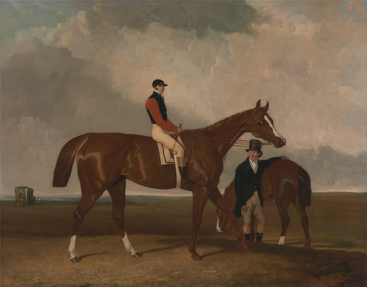 Elis at Doncaster, Ridden by John Day, with his Van in the Background by Abraham Cooper