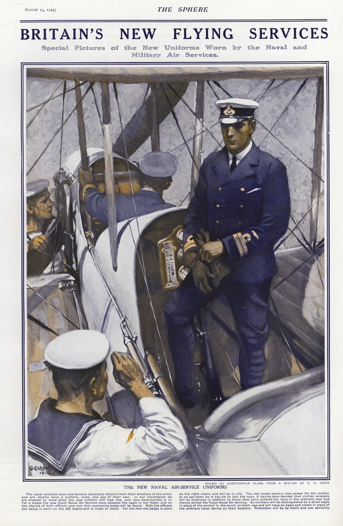 New uniforms of the British Royal Naval Air Service, 1914  by Addison Thomas Millar