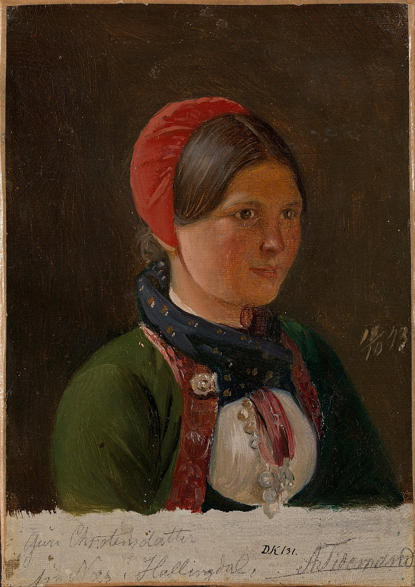 Girl from Hallingdal by Adolph Tidemand