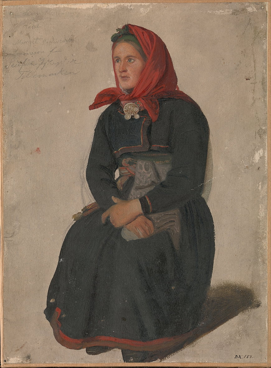 Peasant Woman from Telemark by Adolph Tidemand