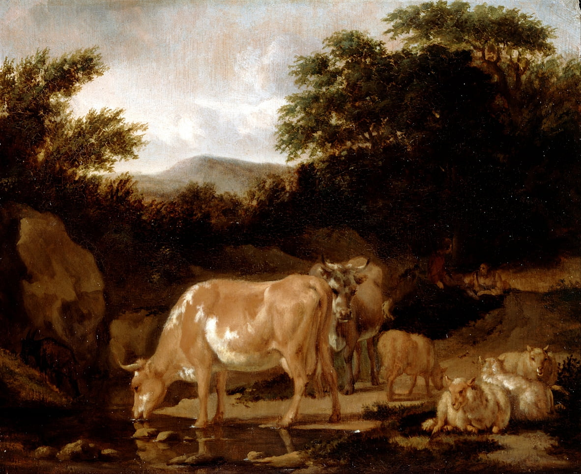 Cows and Sheep in a Wood by Adriaen van de Velde