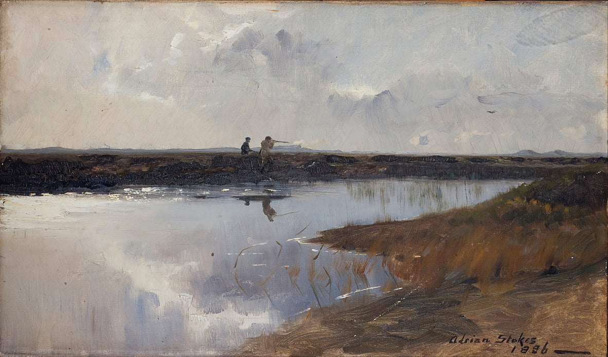 Hunters on the moor north of Skagen by Adrian Scott Stokes