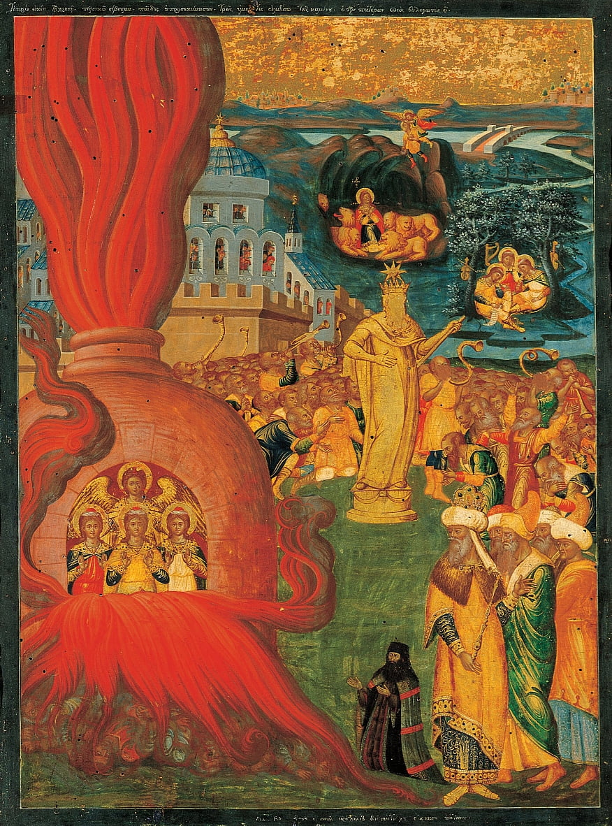 The story of Daniel and the Three Youths in the Fiery Furnace by Adrianoupolitis Konstantinos
