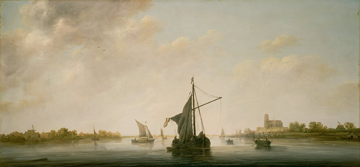 A View of the Maas at Dordrecht by Aelbert Cuyp