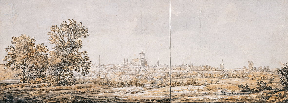 View of Arnhem from the South by Aelbert Cuyp