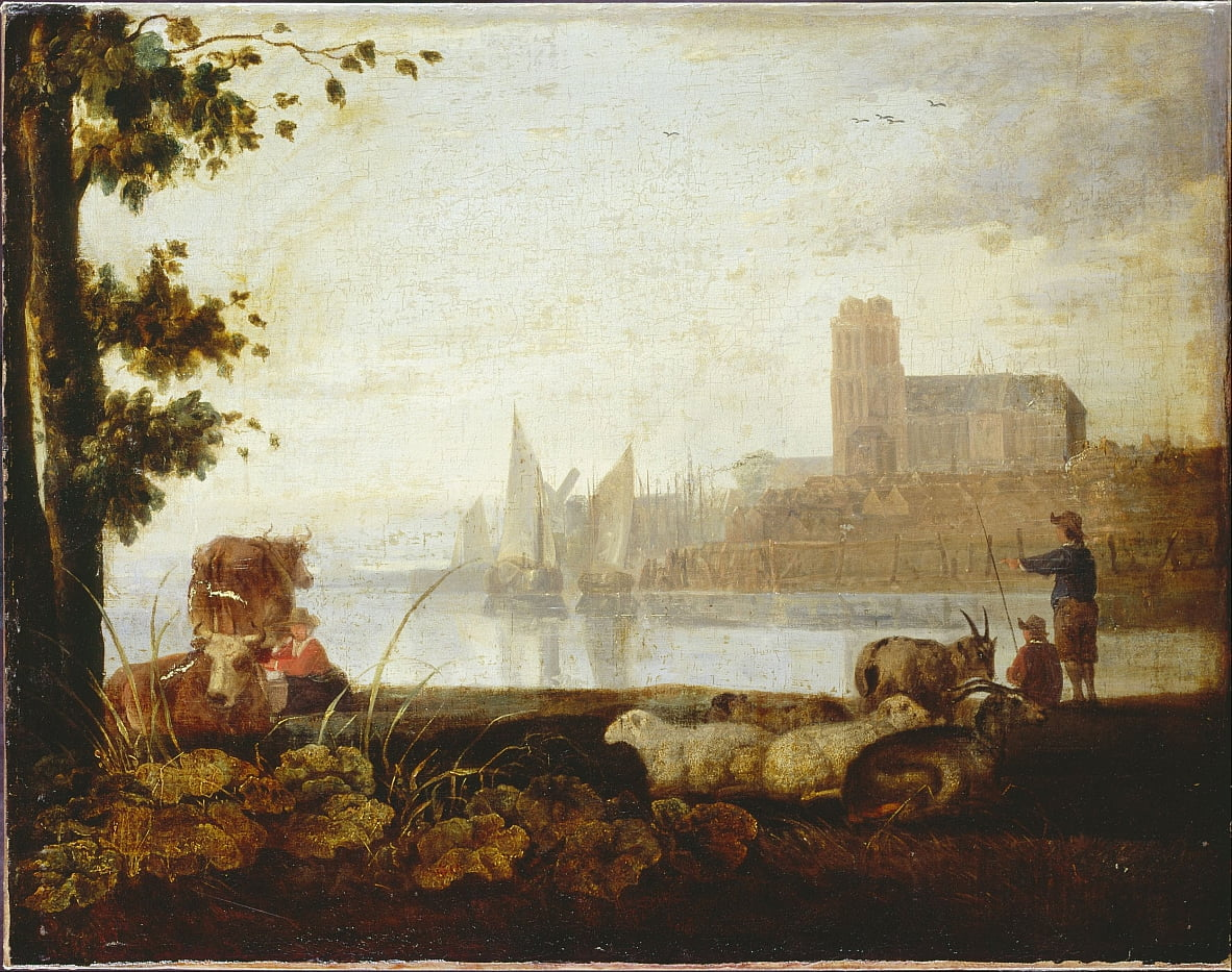 View on the Maas by Aelbert Cuyp
