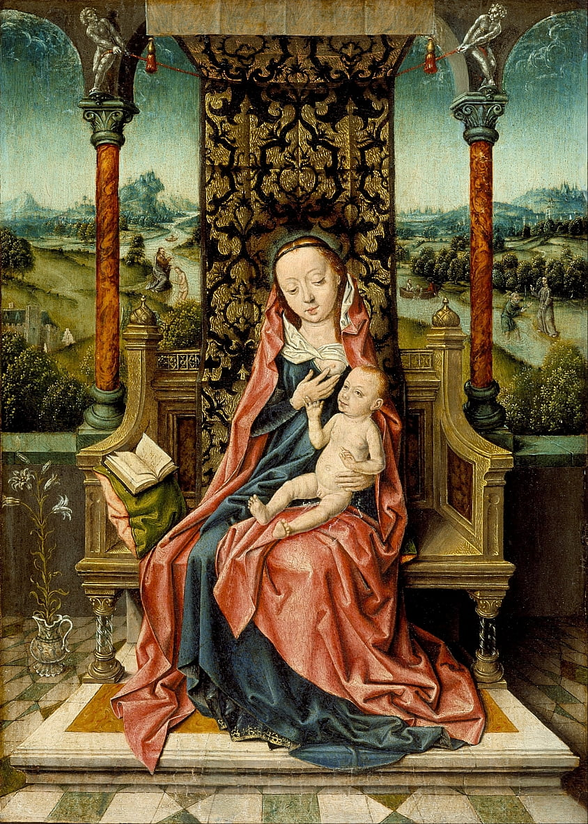 Madonna and Child Enthroned by Aelbrecht Bouts