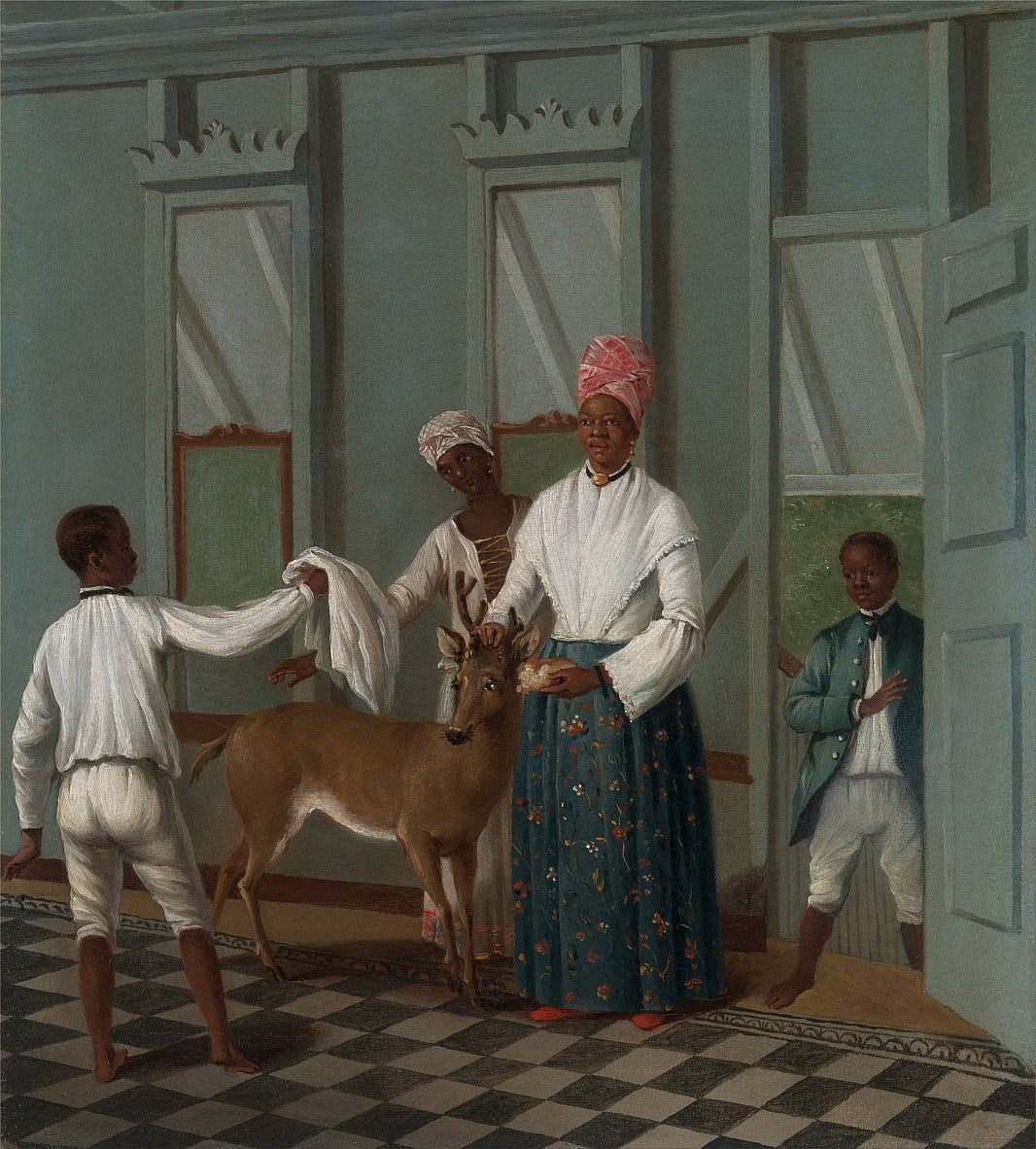 Servants Washing a Deer by Agostino Brunias