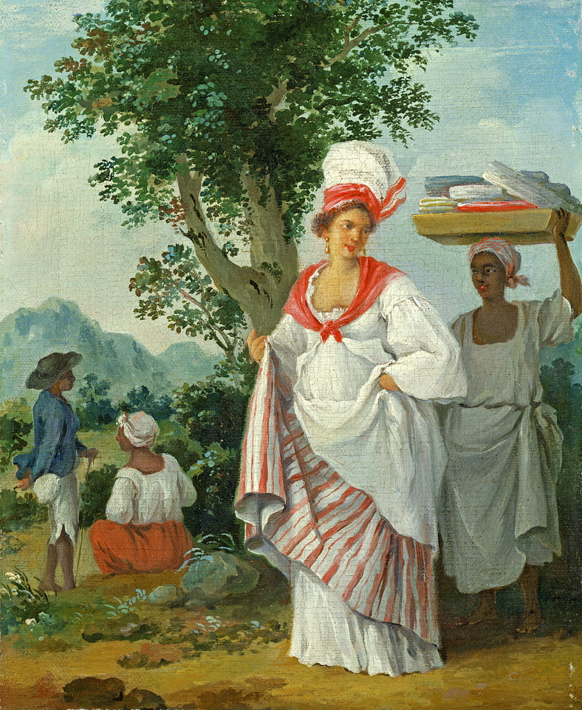 West Indian Creole Woman with her Black Servant, c.1780  by Agostino Brunias