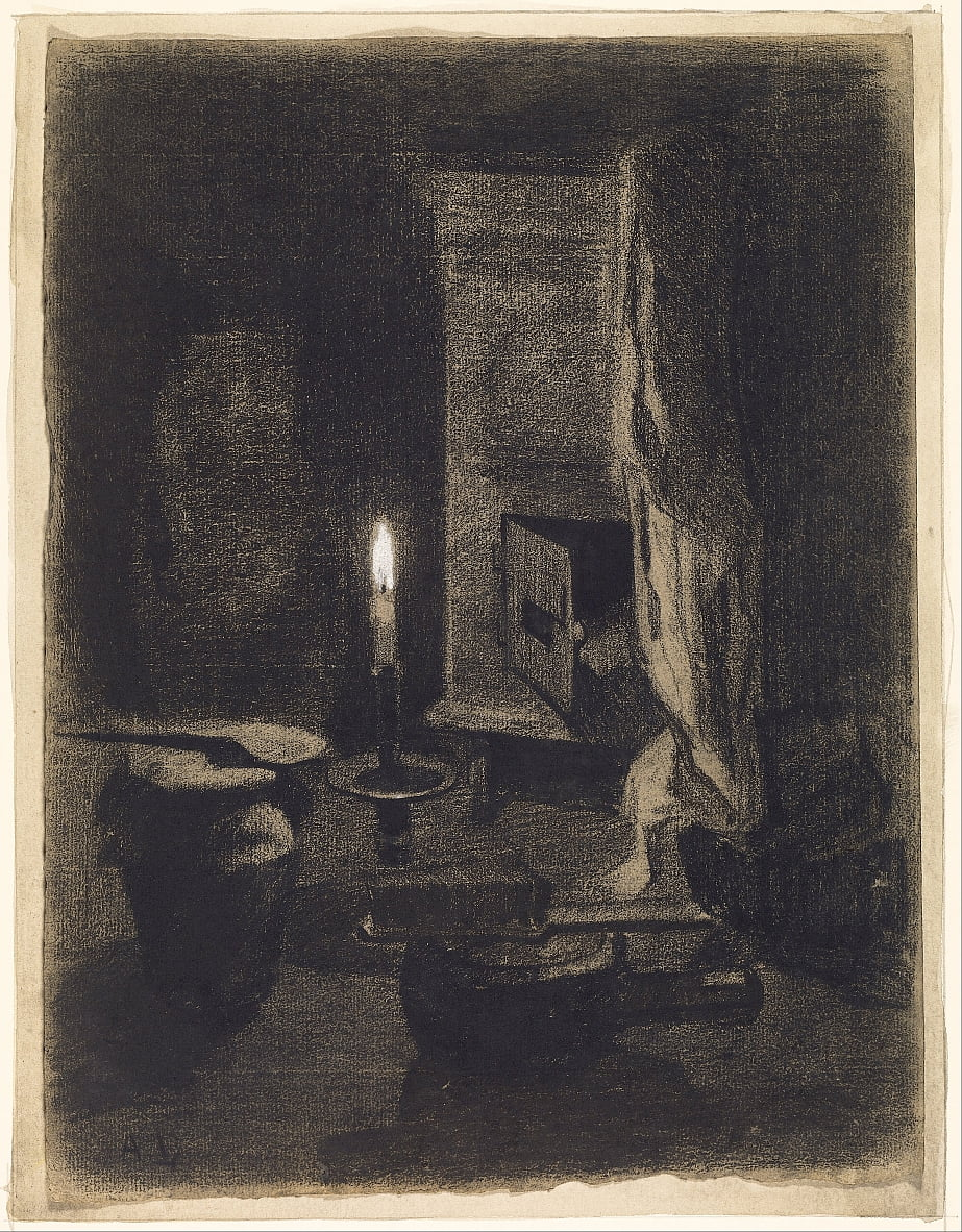 Still Life with Candle by Albert Charles Lebourg