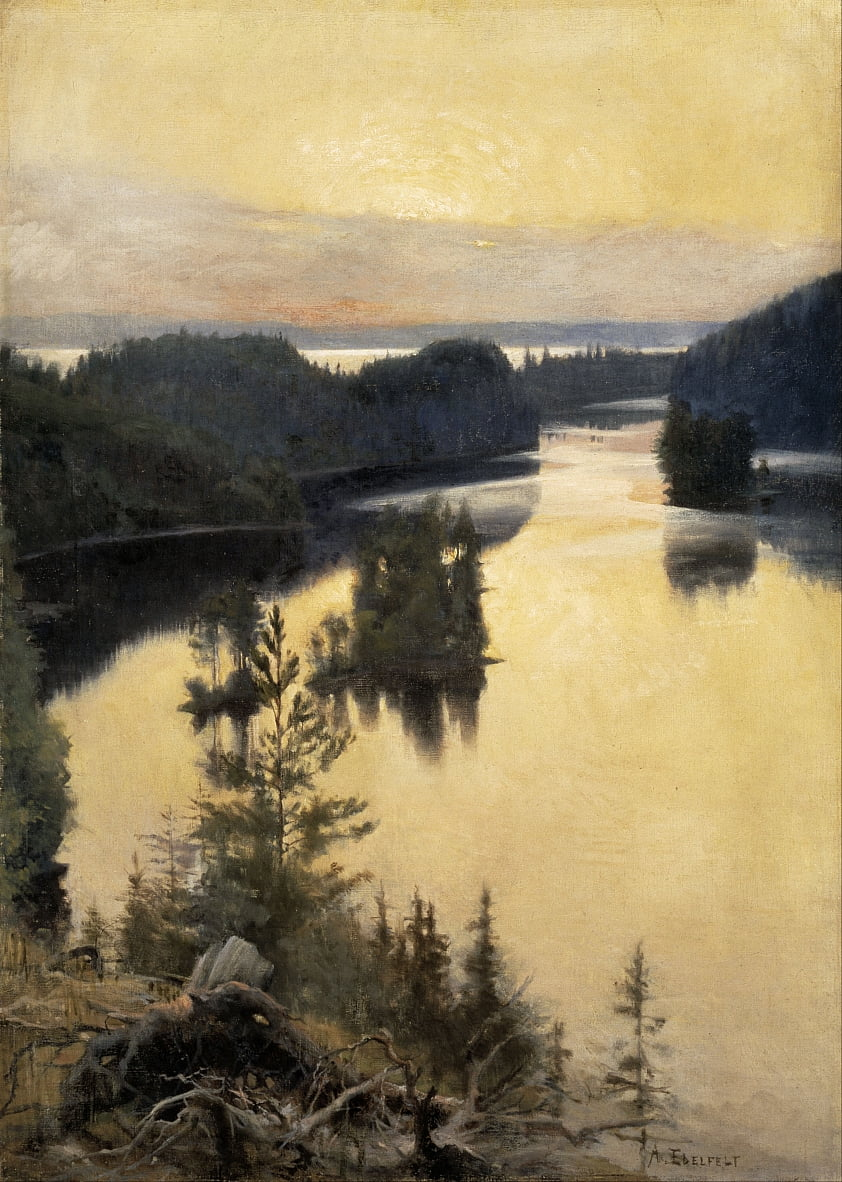 Kaukola Ridge at Sunset by Albert Gustaf Aristides Edelfelt