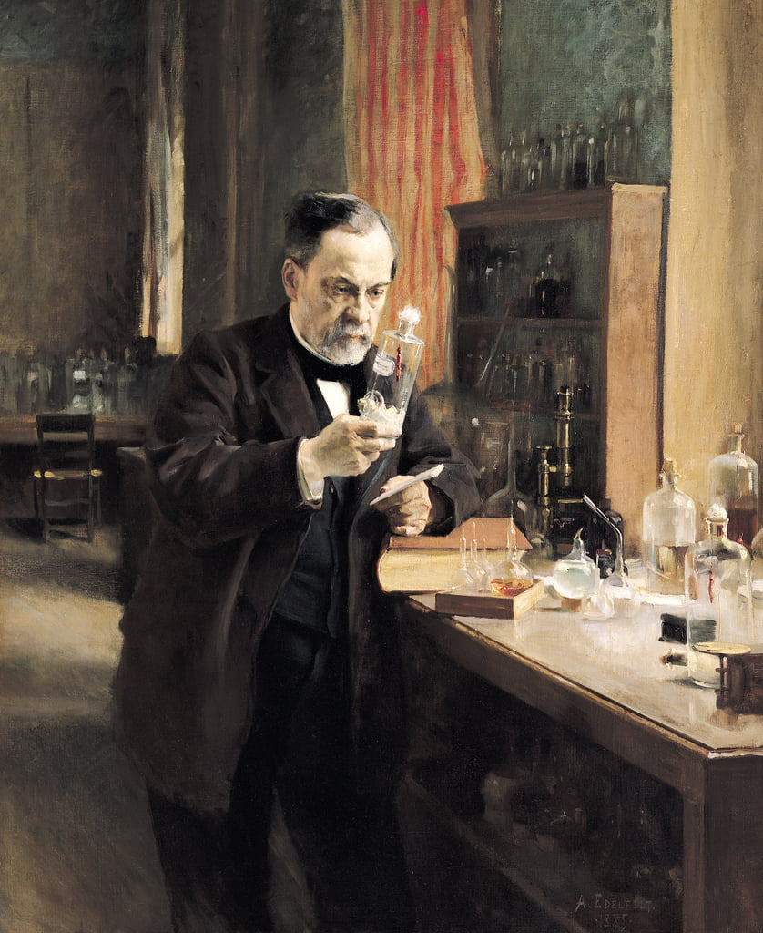 Louis Pasteur (1822-95) in his Laboratory, 1885  by Albert Gustaf Aristides Edelfelt