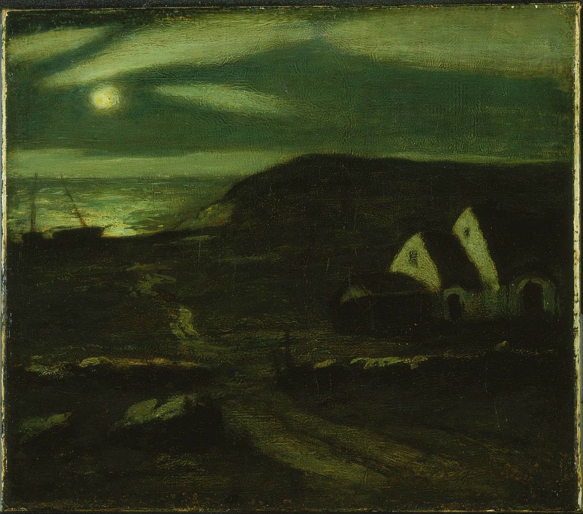 Fisherman´s Hut by Albert Pinkham Ryder