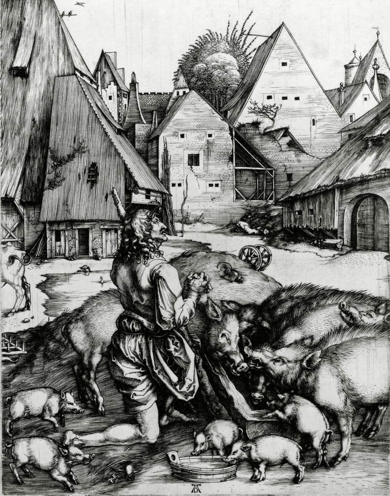 The Prodigal Son, 1496  by Albrecht Dürer
