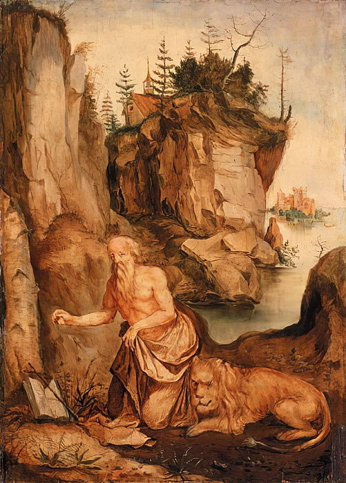 St Jerome and the Lion, c.1500  by Albrecht Dürer