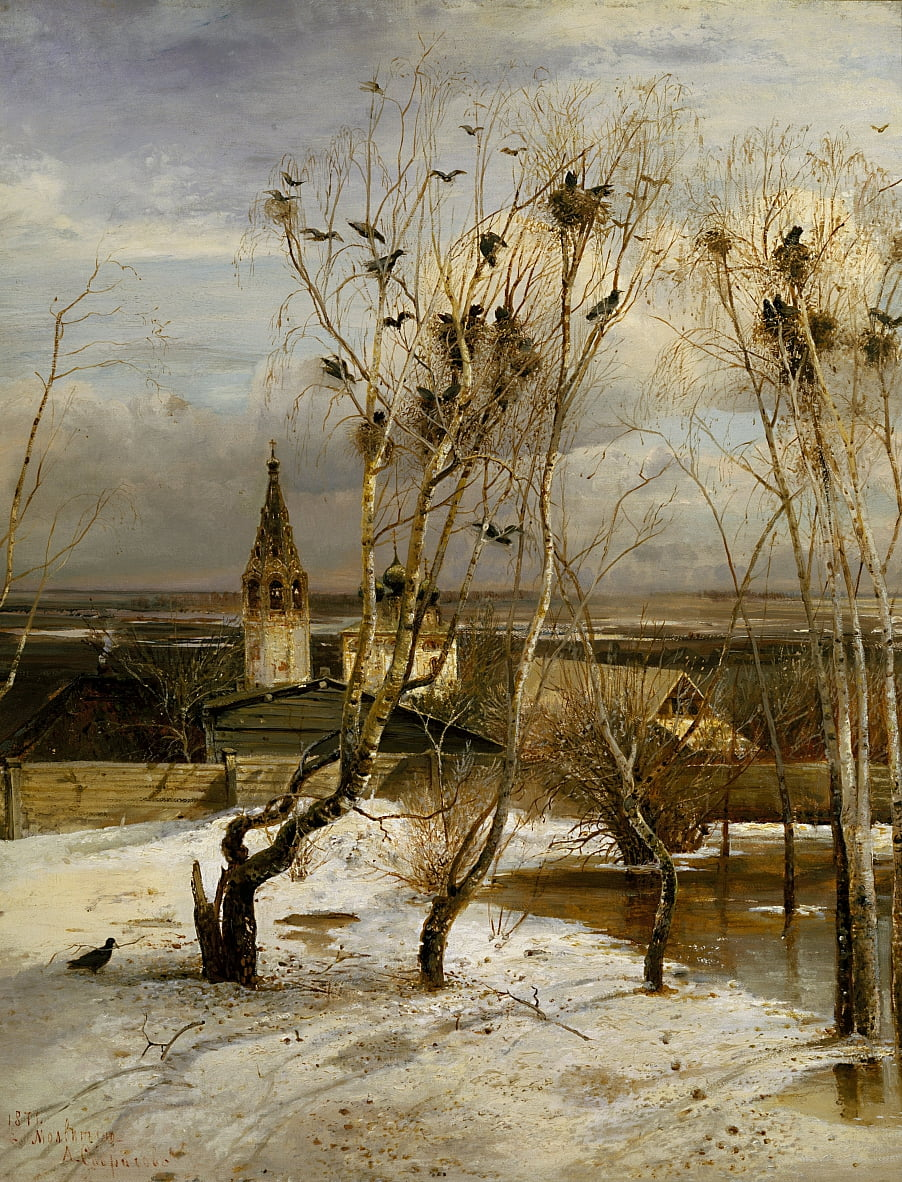 Rooks have Returned by Aleksei Kondratevich Savrasov