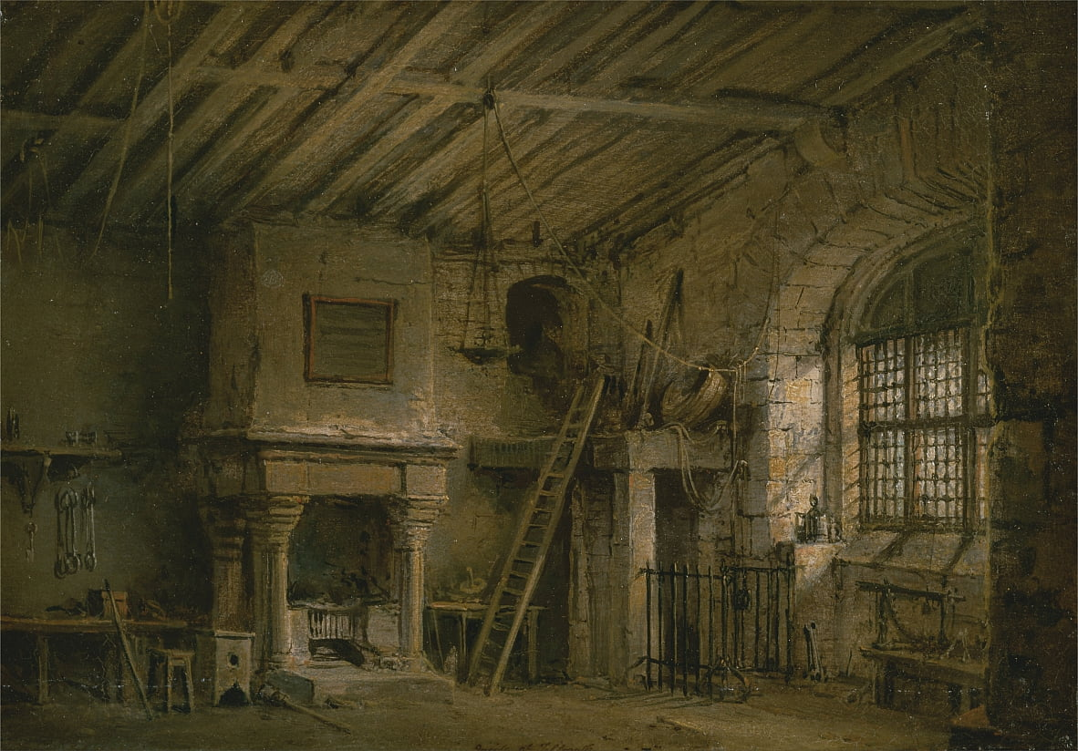Stage Design for Heart of Midlothian; The Tolbooth by Alexander Nasmyth