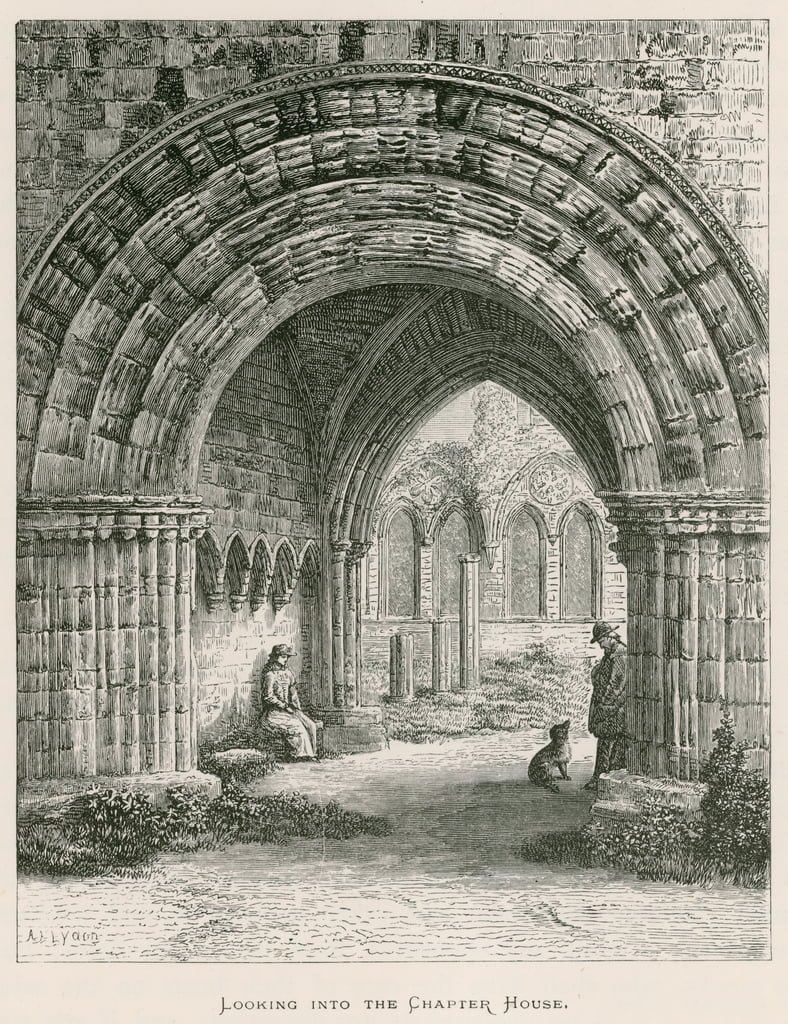 Furness Abbey, Looking into the Chapter House  by Alexander Francis Lydon
