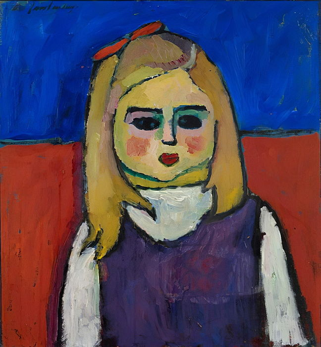 Child, c.1909 (oil on tempera on cardboard) by Alexej von Jawlensky