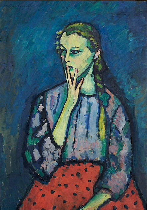 Portrait of a Girl, 1909 by Alexej von Jawlensky