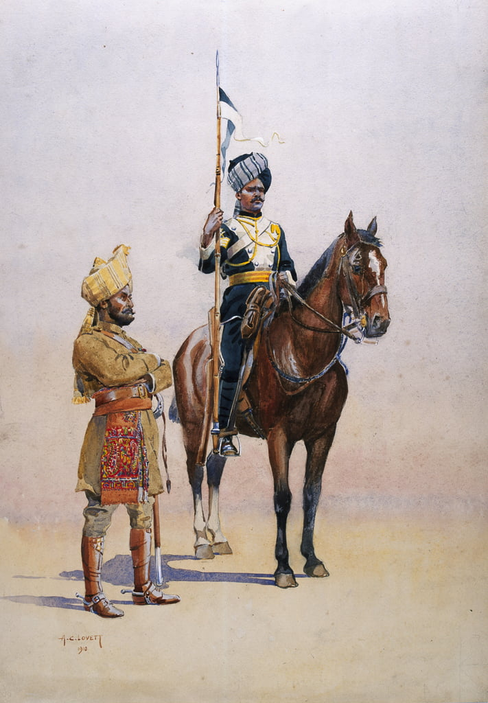 Soldiers of the Mysore Transport Corps, illustration from