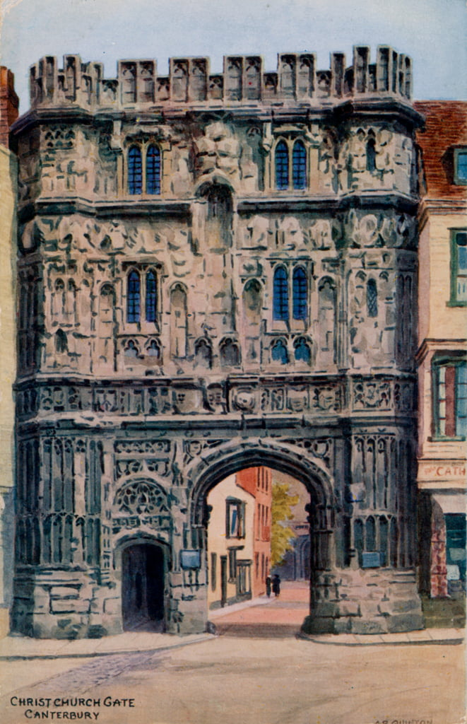Christ Church Gate, Canterbury  by Alfred Robert Quinton