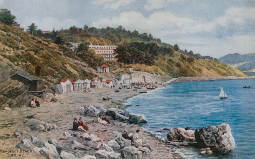 Meadfoot Beach, Torquay  by Alfred Robert Quinton