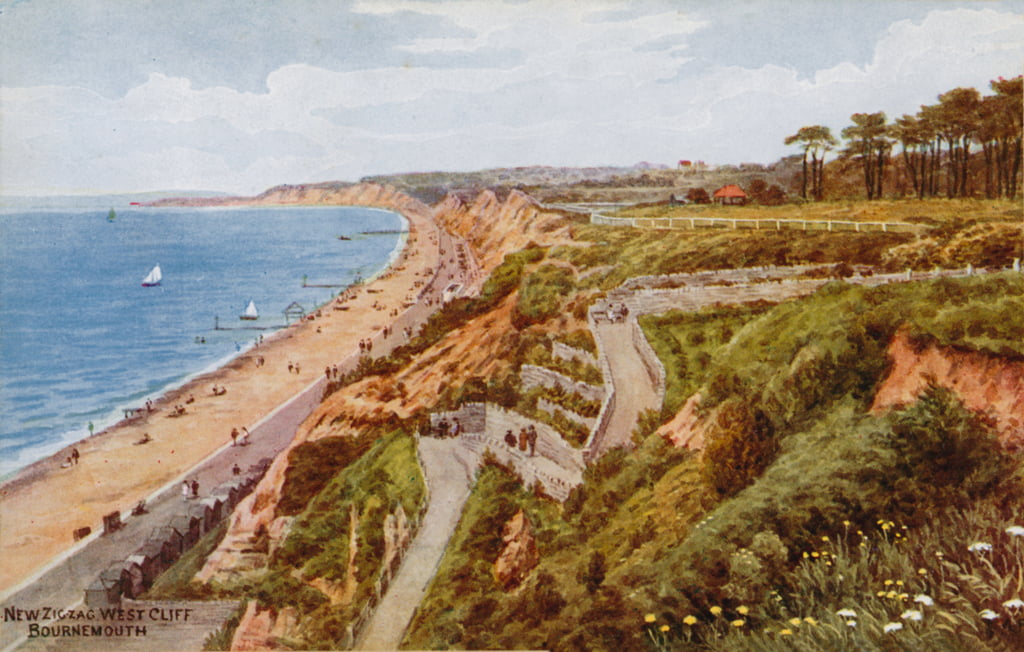New Zig-zag West Cliff, Bournemouth  by Alfred Robert Quinton