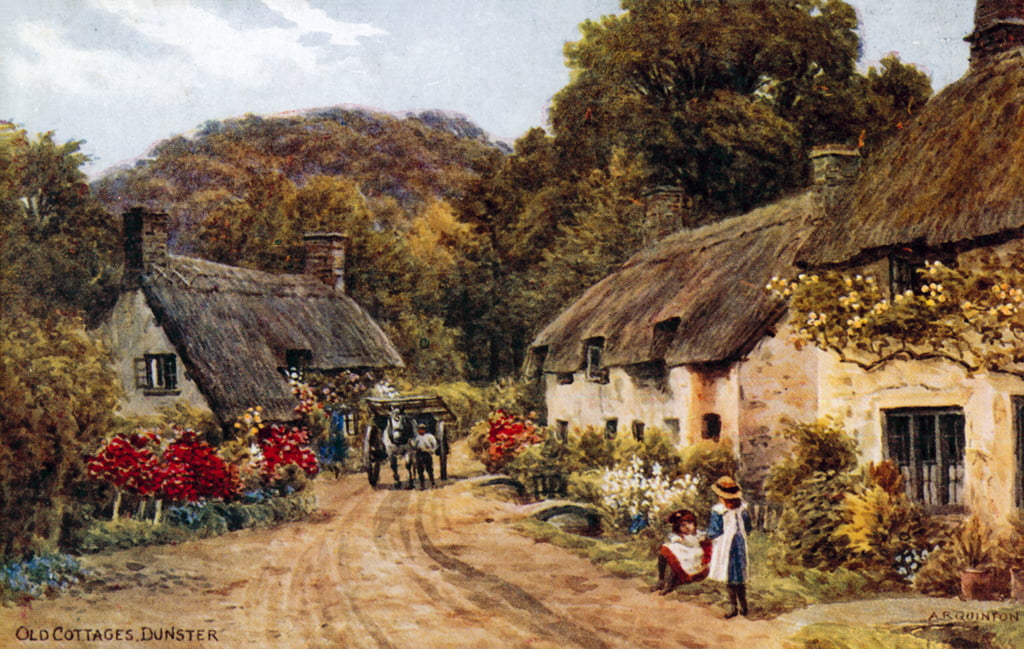 Old Cottages, Dunster  by Alfred Robert Quinton