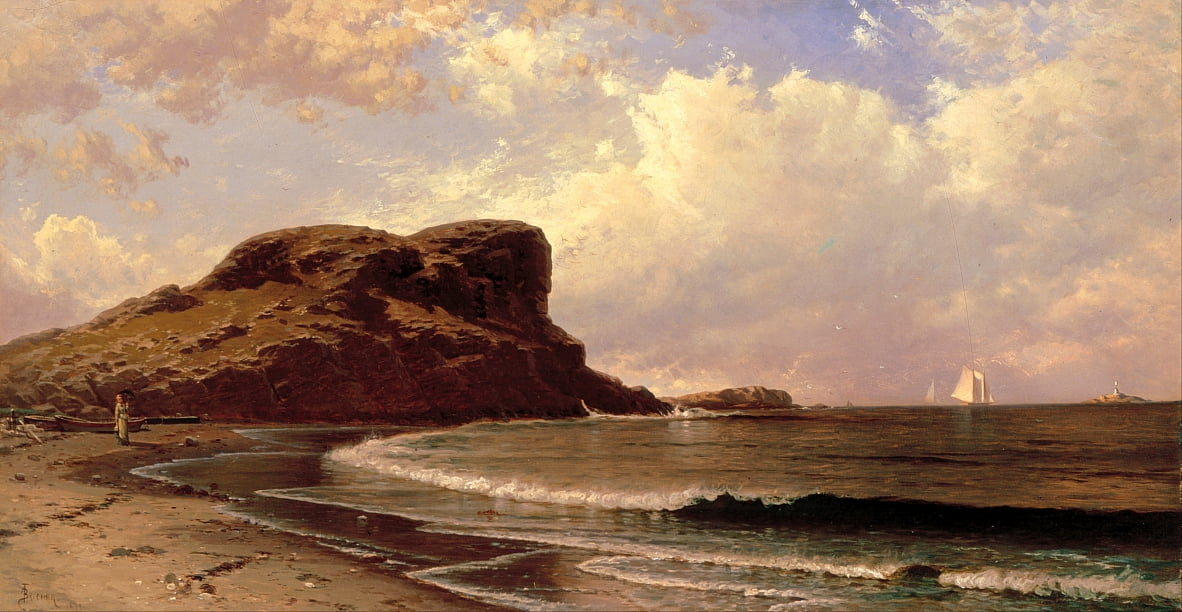 Castle Rock, Nahant, Massachusetts by Alfred Thompson Bricher