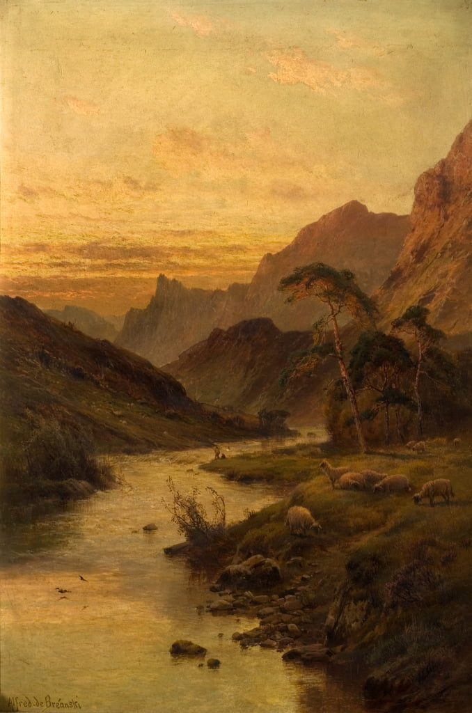 River Foyers at Abertarff  by Alfred de Breanski