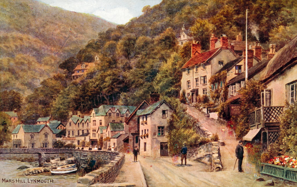 Mars Hill, Lynmouth  by Alfred Robert Quinton