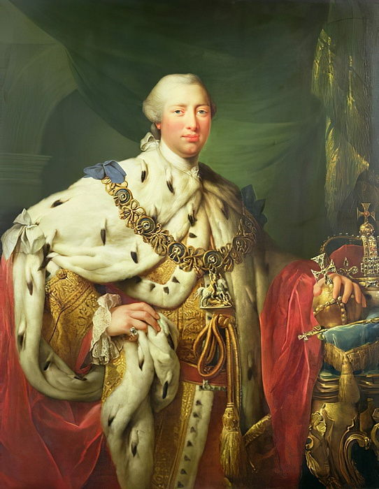 Portrait of George III in his Coronation Robes, c.1760  by Allan Ramsay