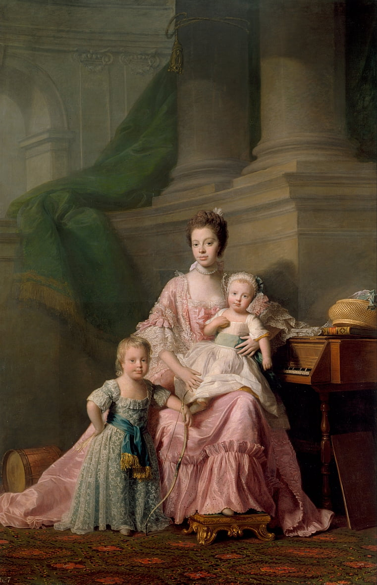 Queen Charlotte with her Two Eldest Sons by Allan Ramsay