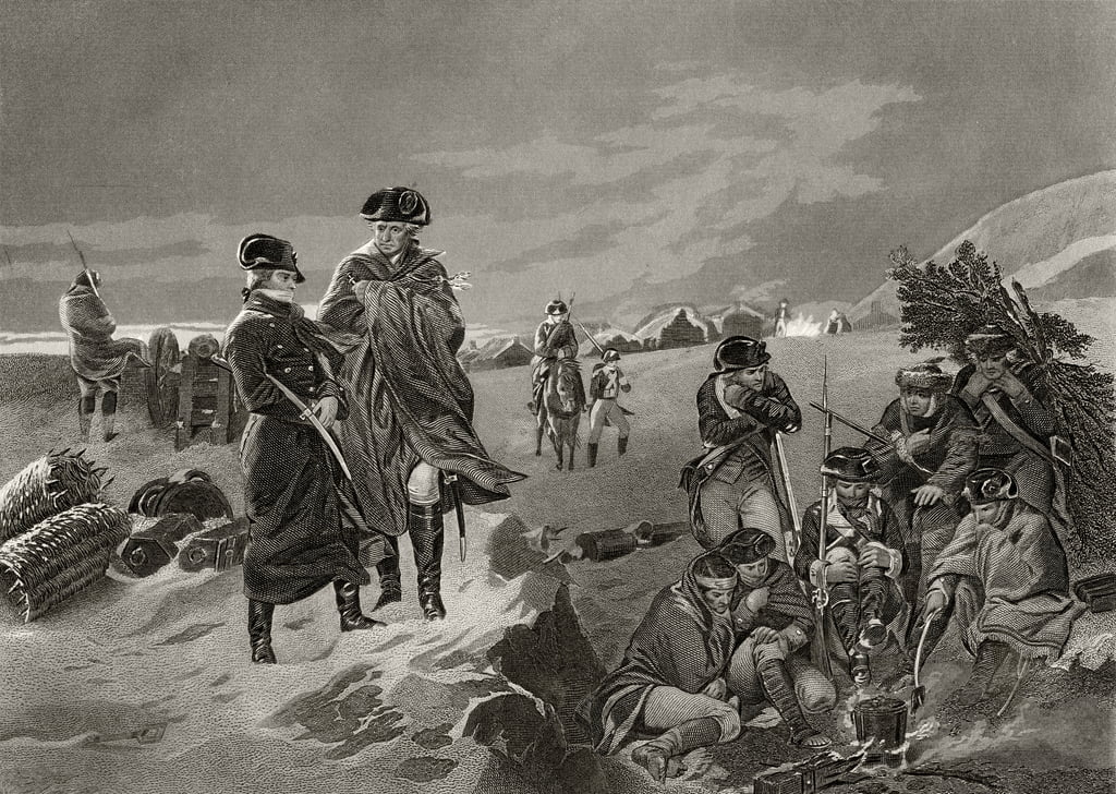 George Washington and La Fayette at Valley Forge, from