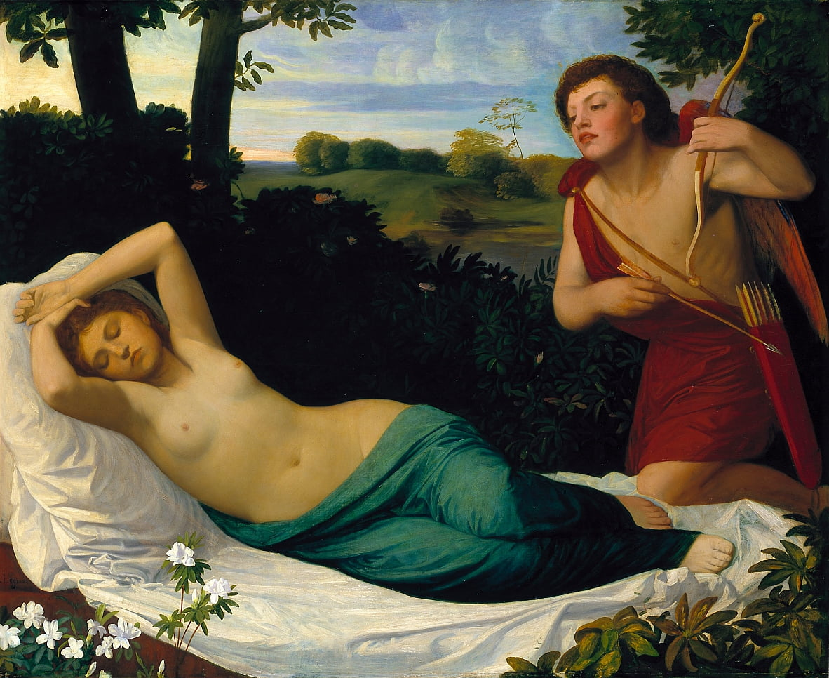 Cupid and Psyche by Alphonse Legros