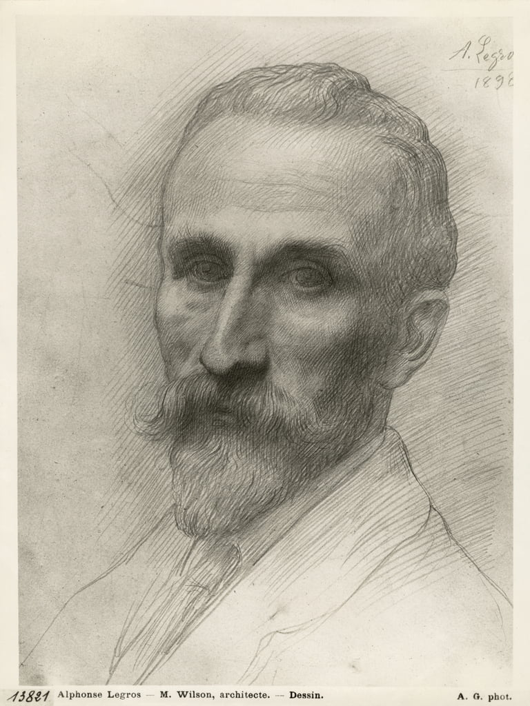 Mr Wilson, architect, 1898 (silverpoint on cardboard) by Alphonse Legros