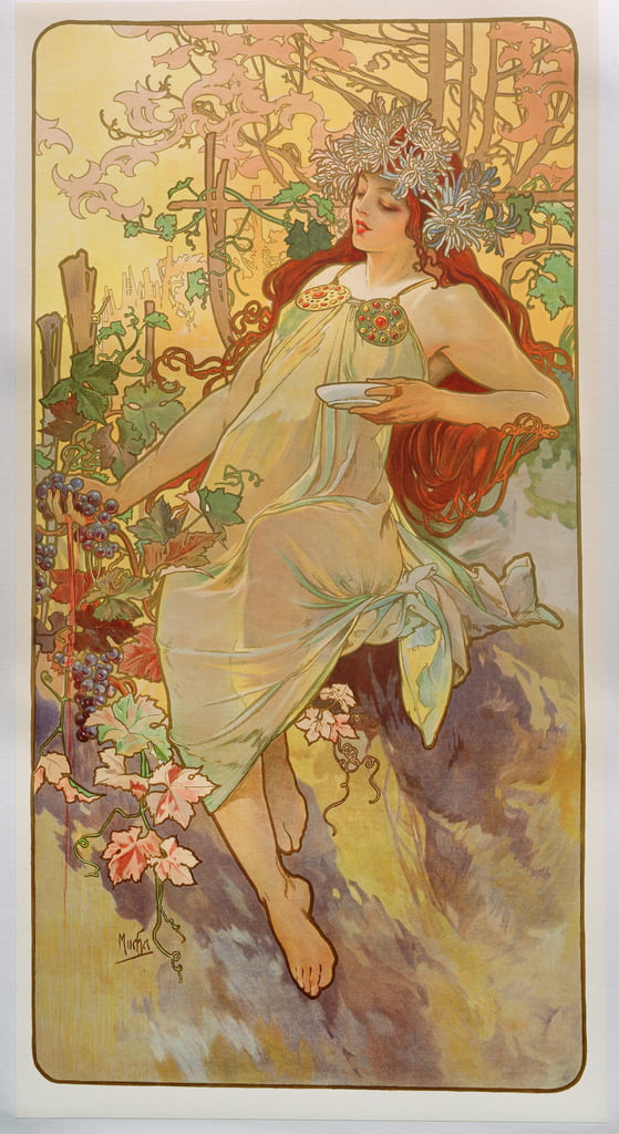 The Seasons: Autumn, 1896  by Alphonse Mucha